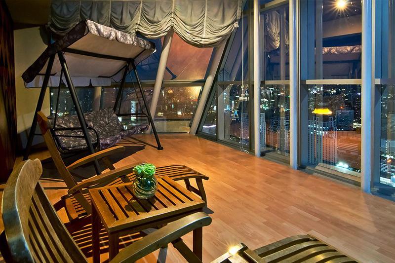 バンコクの夜景を一望できるバイヨークスカイホテルの客室