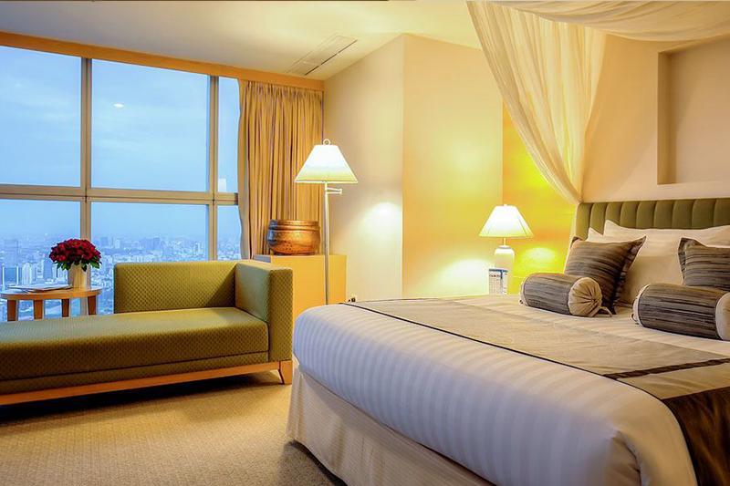 広々と快適なバイヨーク・スカイホテルの客室