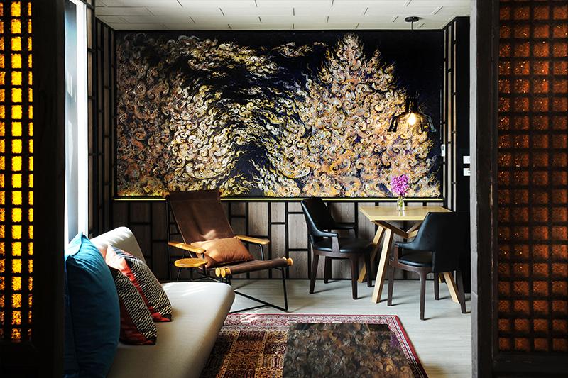 サイアム アット サイアム デザイン ホテルの芸術的なインテリアデザイン