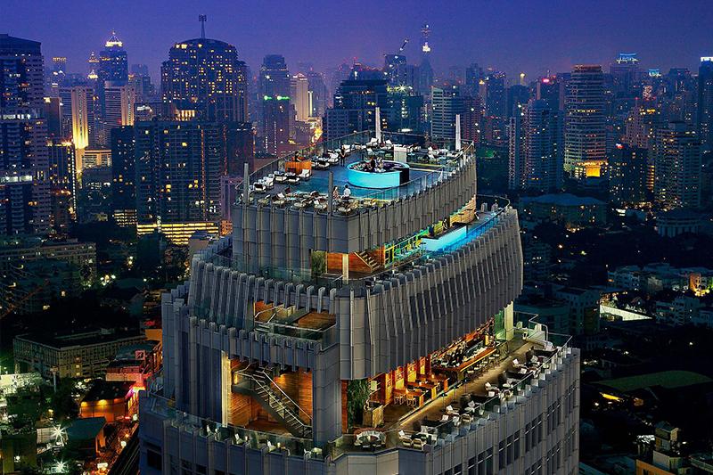 バンコク マリオットホテル スクンビット「オクターブ ルーフトップ ラウンジ&バー」とバンコクの夜景
