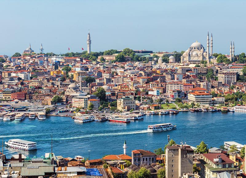 トルコ イスタンブールのエキゾチックな景観