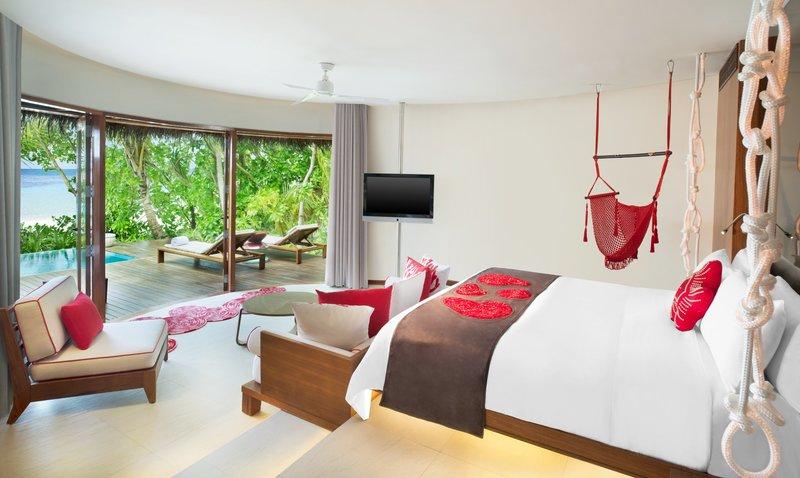 Wモルディブのモダンな客室デザイン