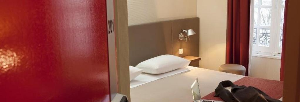 クール ド シティ ホテル ボルドー クレマンソー バイ ハッピーカルチャー - ボルドー - 寝室