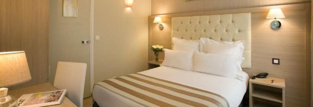 ホテル アレクサンドリーヌ オペラ - パリ - 寝室