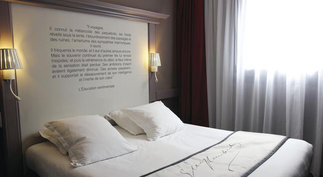 ベストウエスタン ホテル リテレール ギュスターヴ フローベール - ルーアン - 寝室