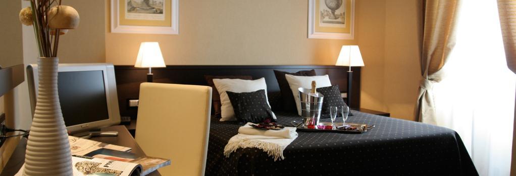 ホテル ラティナム - ローマ - 寝室