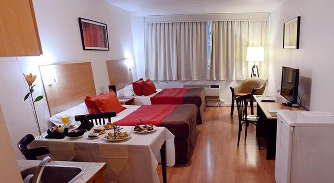 アパート ホテル & スパ コングレソ - ブエノスアイレス - 寝室
