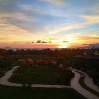 Atmaland Resort Sunset and ocean View from Sea View Bungalows