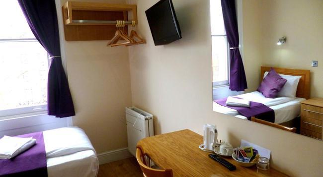 カーディフ ホテル - ロンドン - 寝室