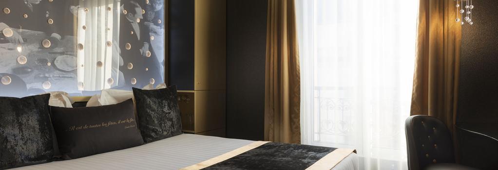 ホテル レ ビュル ドゥ パリ - パリ - 寝室