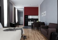 Aparthotel Vertical - サンクトペテルブルク - 寝室