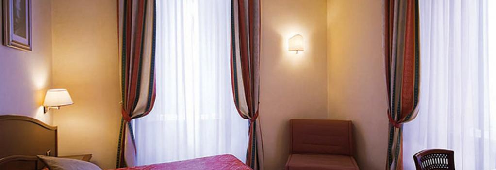 ホテル ドロミティ - ローマ - 寝室