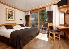 オテル ドゥ ラルヴ - シャモニー・モンブラン - 寝室