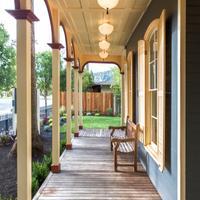 Brannan Cottage Inn Porch