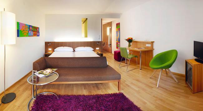 アット ザ パーク ホテル - Baden bei Wien - 寝室