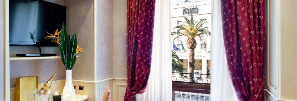アル ヴィミナーレ ヒル イン & ホテル - ローマ - 寝室