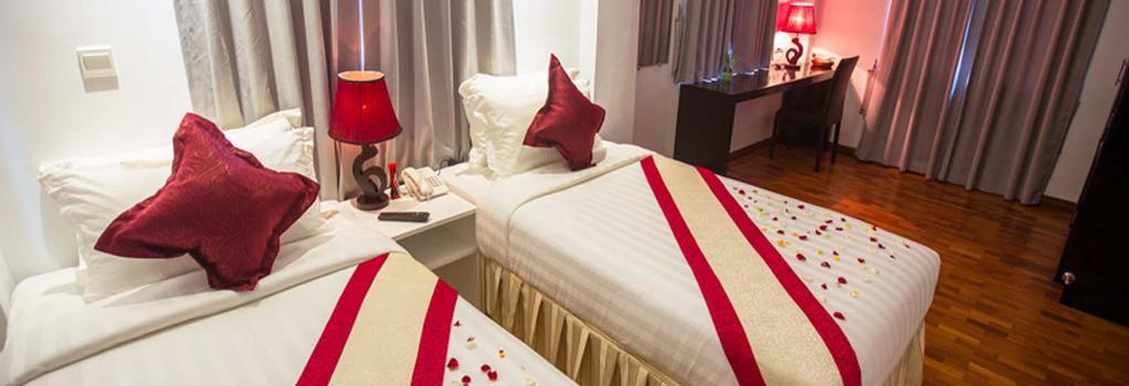 WH ホテル&サービス アパートメント - ヤンゴン - 寝室