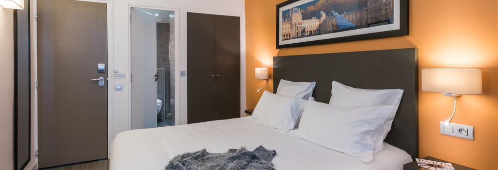 ホテル ルーヴル リシュリュー - パリ - 寝室