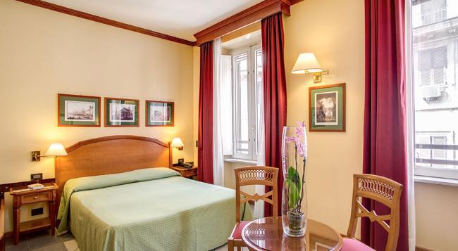 ホテル ミラニ - ローマ - 寝室