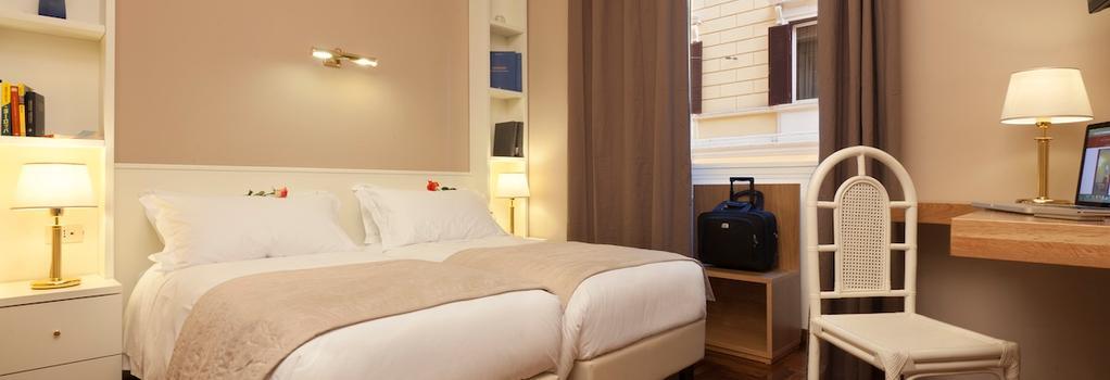 ホテル イタリア - ローマ - 寝室