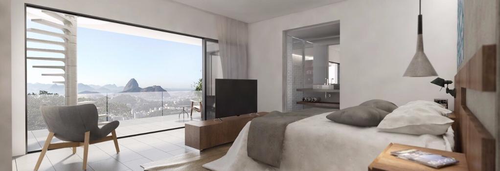 Casa Marques Santa Teresa - リオデジャネイロ - 寝室