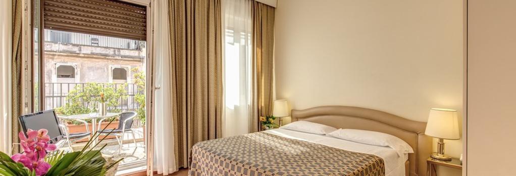 ホテル キング - ローマ - 寝室