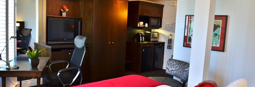 ホテル デ コーテリエール - ケベック・シティ - 寝室
