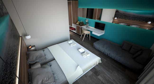 Atrium Hotel - Rethymno - 寝室