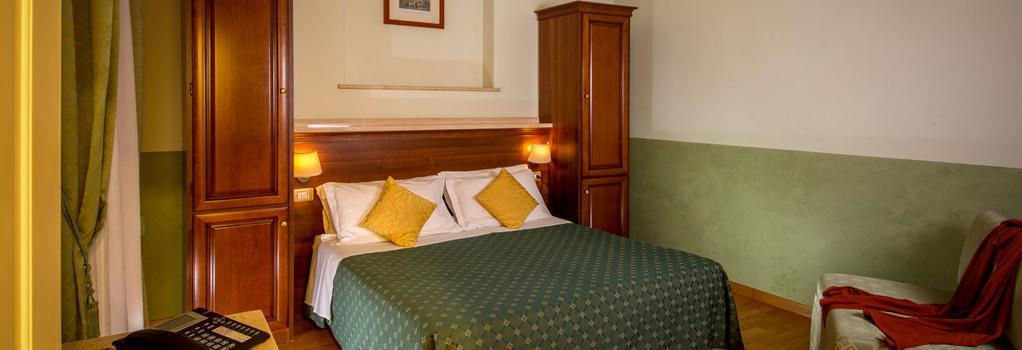 ホテル チェントラーレ - ローマ - 寝室