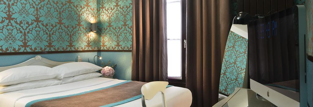 ホテル デザイン ソルボンヌ - パリ - 寝室