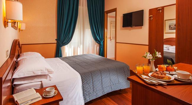 ホテル ピエモンテ - ローマ - 寝室