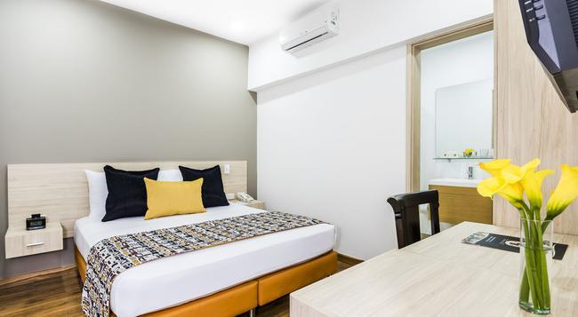 Hotel Asturias Medellin - メデジン - 寝室