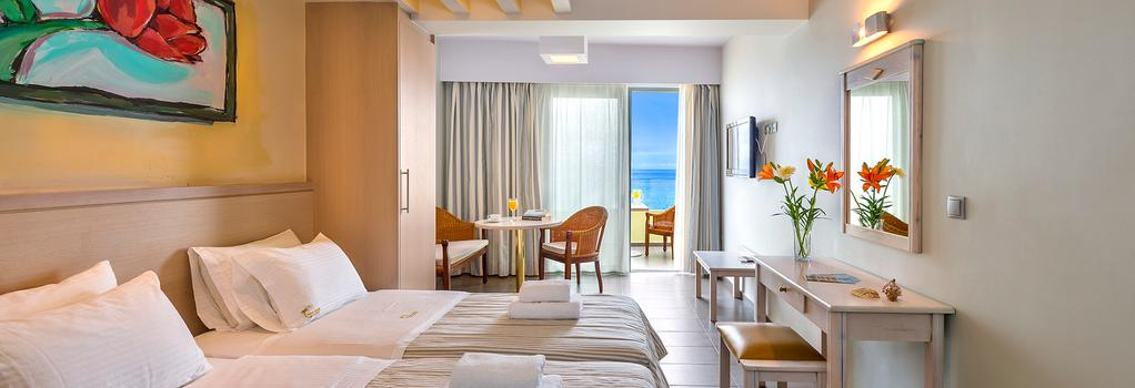 Palm Beach Apartments - Studio - Rethymno - 寝室